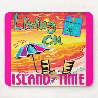 Vida no tempo da ilha mouse pad
