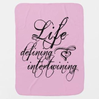 """""""Vida que define"""" o carrinho de criança/cobertura Cobertores De Bebe"""