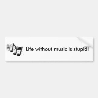 Vida sem música adesivo para carro
