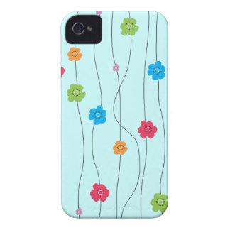 Videiras irrisórios coloridas da flor capinhas iPhone 4