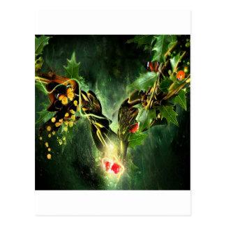 Videiras legal da borboleta da joaninha do abstrat cartão postal