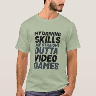 Video games reto de competência engraçado de Outta Camiseta