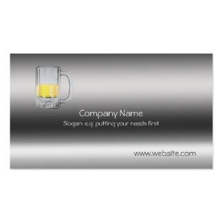 Vidro de cerveja no modelo do metálico-olhar cartão de visita