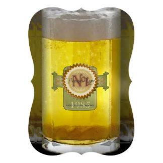 Vidro de cerveja personalizado engraçado convites