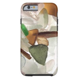 Vidro do mar ou vidro da praia capa tough para iPhone 6