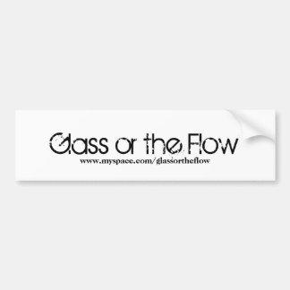 Vidro ou o bumpersticker do fluxo adesivo para carro