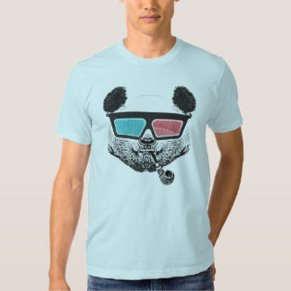 Vidros 3-D da panda do vintage Camiseta