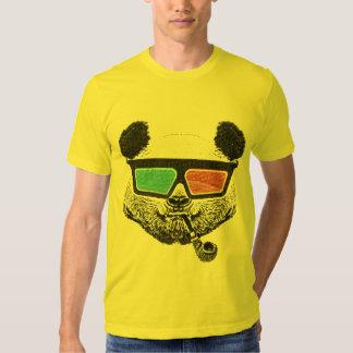 Vidros 3-D da panda do vintage Tshirt