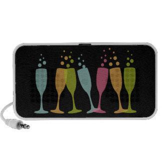 Vidros de bebendo festivos coloridos borbulhantes  caixinhas de som para iPhone