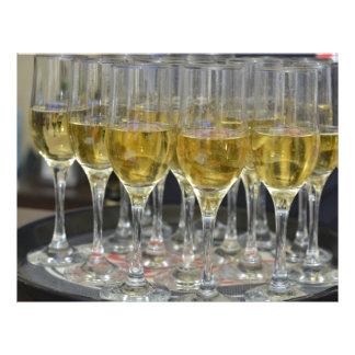 Vidros de Champagne Modelos De Panfleto