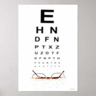 Vidros de leitura poster