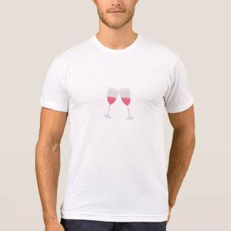 vidros do champanhe camiseta