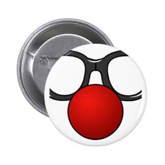 Vidros engraçados com o nariz engraçado vermelho boton