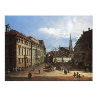 Viena, o Lobkowitzplatz por Bernardo Bellotto Cartão Postal