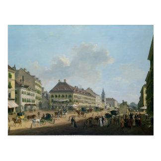 Viena, o passeio, 1824 (óleo em canvas) cartão postal