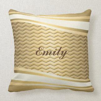 Viga na moda luxuosa dourada do attracutve almofada