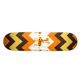 Vigas amarelas alaranjadas corajosas de Brown com  Shape De Skate 21,6cm
