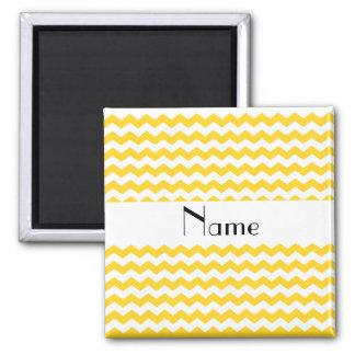 Vigas amarelas conhecidas personalizadas ímã quadrado