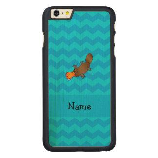 Vigas conhecidas personalizadas do azul do capa para iPhone 6 plus de carvalho, carved®