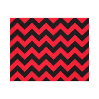 Vigas pretas e vermelhas impressão em tela canvas