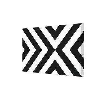 Vigas preto e branco impressão em tela