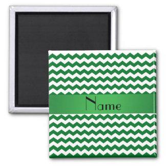 Vigas verdes conhecidas personalizadas ímã quadrado