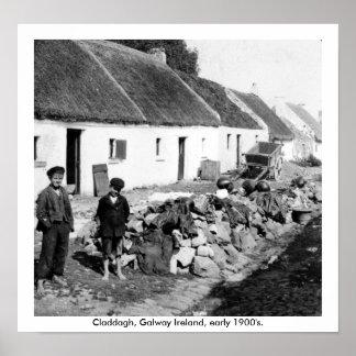 Vila 1900's adiantado de Galway Ireland - de Poster