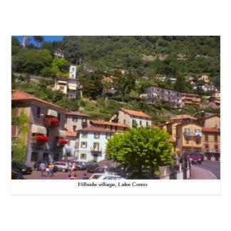 Vila de montanhês, lago Como Cartão Postal