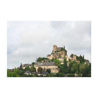 Vila de Turenne em France Impressão Em Canvas