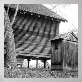 Vila histórica no parque estadual de Basto em New- Posteres