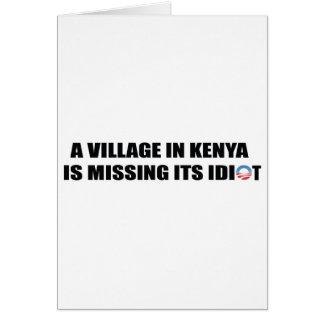 village_kenya.jpg cartão comemorativo