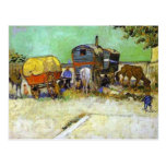 vincent camionete gogh- as caravana - acampamento  cartões postais