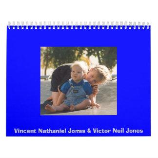 Vincent Nathaniel Jones & vencedor Neil Jones Calendário