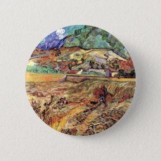 Vincent van Gogh - belas artes incluidas do campo Bóton Redondo 5.08cm