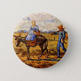 Vincent van Gogh - casal do camponês que vai Bóton Redondo 5.08cm