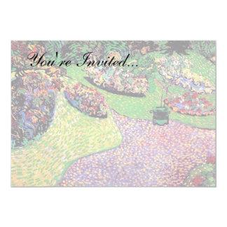 Vincent van Gogh - jardim em belas artes de Auvers Convite 12.7 X 17.78cm