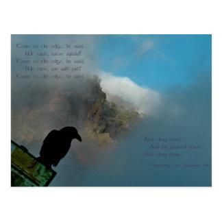 Vindo ao cartão do poema da borda