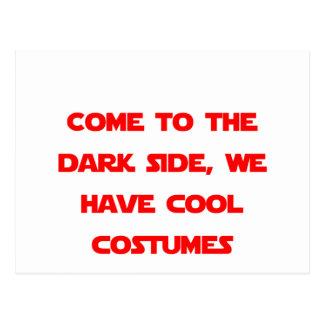 Vindo ao lado escuro cartão postal