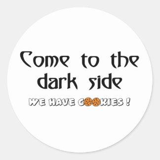 Vindo ao lado escuro - nós temos biscoitos! adesivo