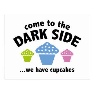 Vindo ao lado escuro… nós temos cupcakes cartão postal