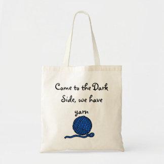 Vindo ao lado escuro, nós temos o fio sacola tote budget