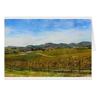 Vinhedo de Napa Valley Califórnia Cartão Comemorativo