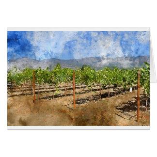 Vinhedo de Napa Valley Cartão Comemorativo