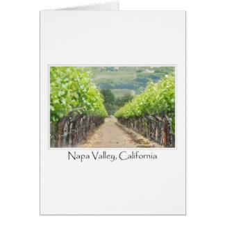 Vinhedo do primavera em Napa Valley Califórnia Cartão Comemorativo