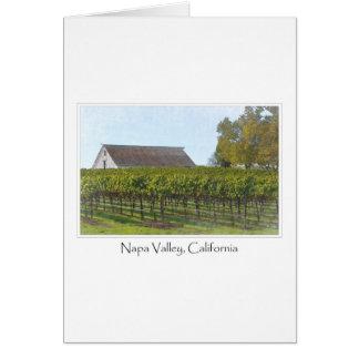 Vinhedo e celeiro de Napa Valley Califórnia Cartão Comemorativo