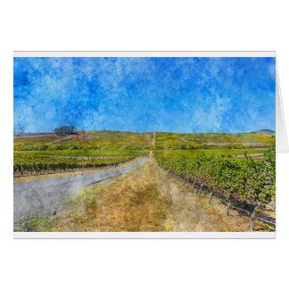 Vinhedo em Napa Valley Califórnia Cartão Comemorativo