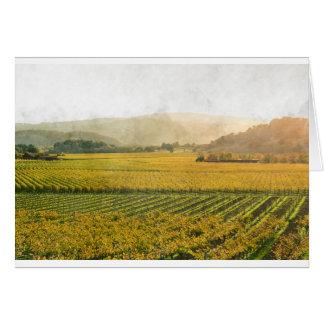 Vinhedo no outono em Napa Valley Califórnia Cartão Comemorativo