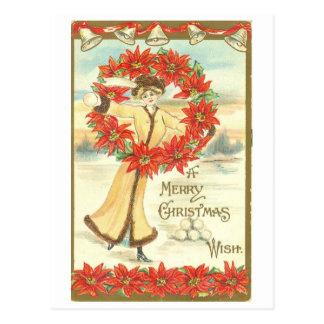 """Vintage 1911, cartão do """"Feliz Natal"""" Cartão Postal"""