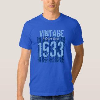 vintage 1933 do presente de aniversário do 80 o camisetas