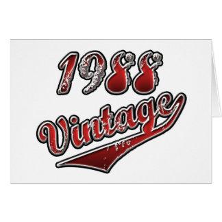 Vintage 1988 cartão comemorativo